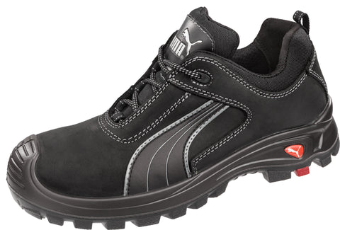 Puma Safety Black Mens Leather Cascades Low EH WRU LaceUp Work Boots