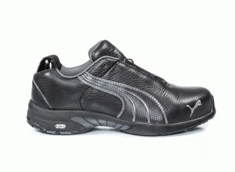 Puma Safety Black Womens Leather Velocity ST WR ESD Oxford Work Shoes