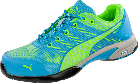 Puma Safety Green/Blue Womens Meshelerity Knit Low AST ST Work Shoes