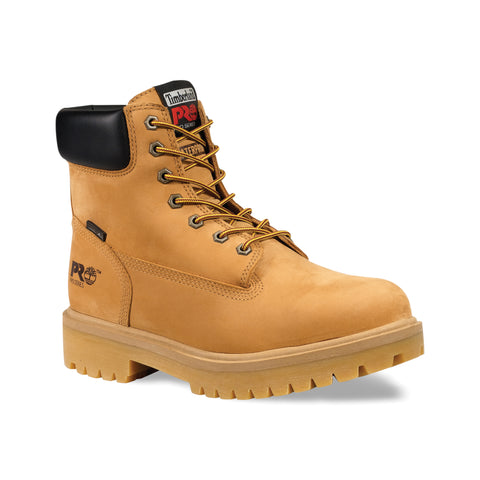 Timberland Pro 6In Ins WP Direct Attach Mens Wheat Leather Work Boots