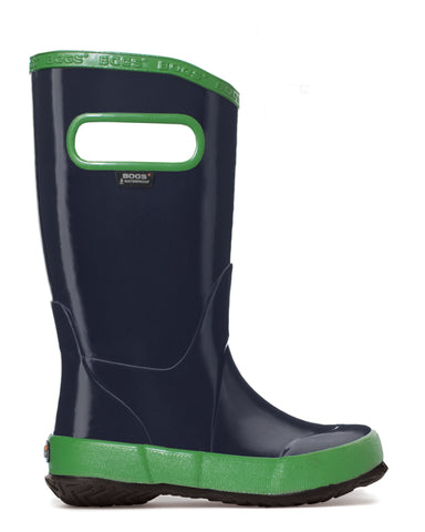 Bogs Kids Navy Rubber Solid WP Rain Boots