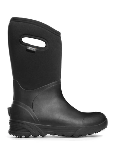 Bogs Mens Black Rubber/Nylon Bozeman Tall Insulated Winter Boots