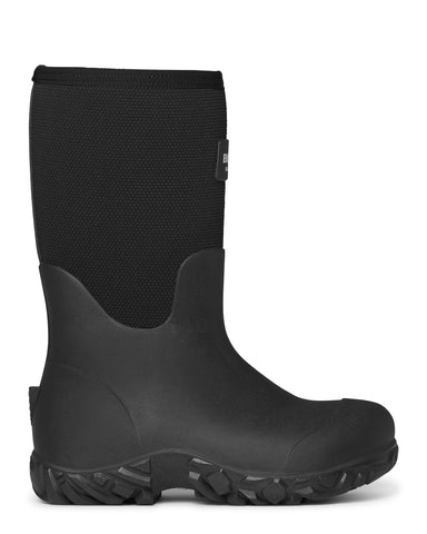 Bogs Mens Black Rubber/Nylon Workman CT Work Boots