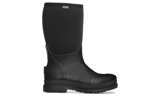 Bogs Mens Black Rubber/Nylon Stockman Insulated Work Boots