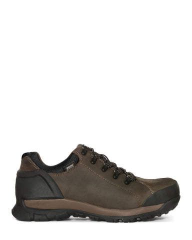 Bogs Mens Brown Leather Foundation Low CT Oxford Work Shoes