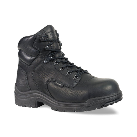 Timberland Pro 6In TiTAN Toe Womens Black Leather Work Boots Waterproof