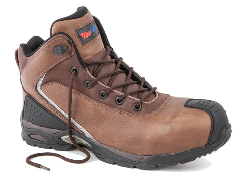 FootGuard Brown Mens Leather FOCUS XT Mid EH WRU CT LaceUp Work Boots