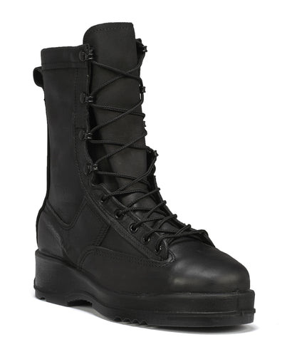 Belleville Waterproof Steel Toe Flight Deck Boots 800ST Black Leather