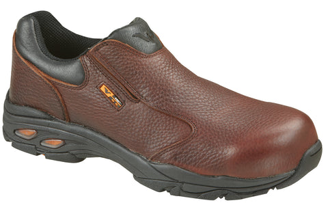 Thorogood Mens Shoes Brown Leather Safety Toe SD Slip-On