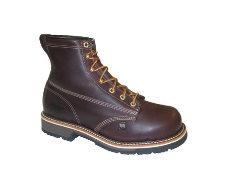 Thorogood Mens Boots Brown Leather Sole 5 6in Emperor Safety Toe