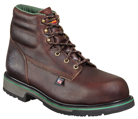 Thorogood Mens SD Brown Leather Work Safety Toe 6in Sport Boot
