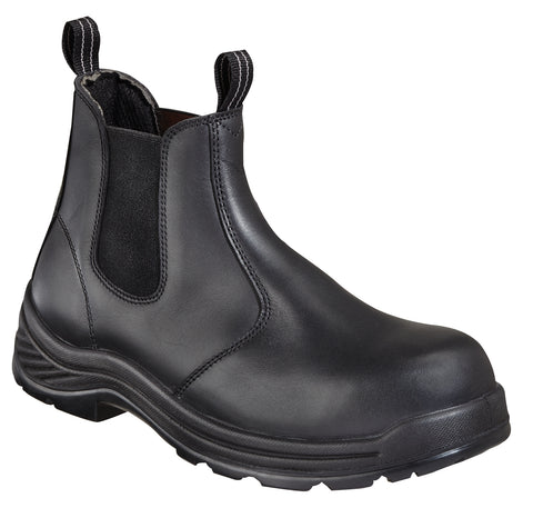 Thorogood Mens Black Leather Quick Release Comp Toe 6in Station Boot