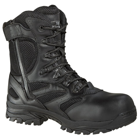 Thorogood Mens Black Leather Tactical Composite Toe 8in WP Side Zip
