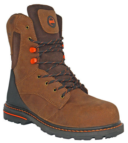 Hoss Boots Mens Brown Leather Carson 8in CT EH Work Boots