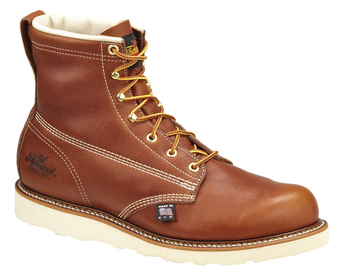 Thorogood Mens Wedges Brown Leather Non-Safety Boots 6in Plain Toe