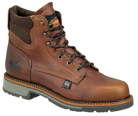 Thorogood Mens Classics Brown Leather Work Boot 6in American Heritage