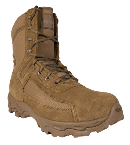 McRae Mens Coyote Suede/Nylon 8in Military Tactical Boots