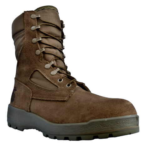 McRae Mens Coyote Suede/Cordura USMC Hot Weather Military Boots