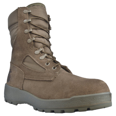 McRae Mens Brown Suede/Cordura USMC Waterproof Military Boots