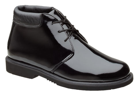 Thorogood Mens Uniform Black Poromeric Boots Academy Chukka