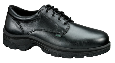 Thorogood Mens Softstreets Black Leather Shoes Plain Toe Oxford
