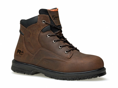 Timberland Pro Magnus 6In Mens Brown Leather Work Boots Nubuck
