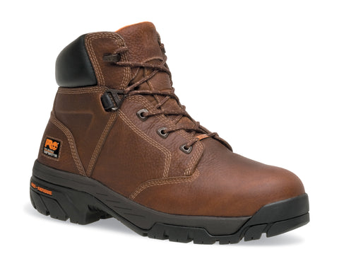 Timberland Pro 6In Helix WP Mens Brown Leather Work Boots Ankle