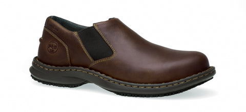Timberland Pro Slip-On Gladstone ESD Mens Brown Leather Work Shoes