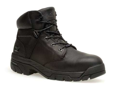 Timberland Pro 6In Helix WP Mens Black Leather Work Boots Ankle