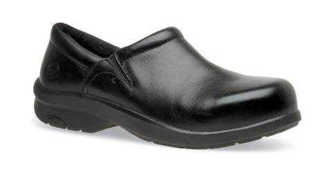 Timberland Pro Newbury ESD Slip On Alloy Womens Black Leather Work Shoes