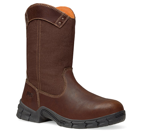 Timberland Pro Excave Wellington Mens Brown Leather Work Boots Steel Toe