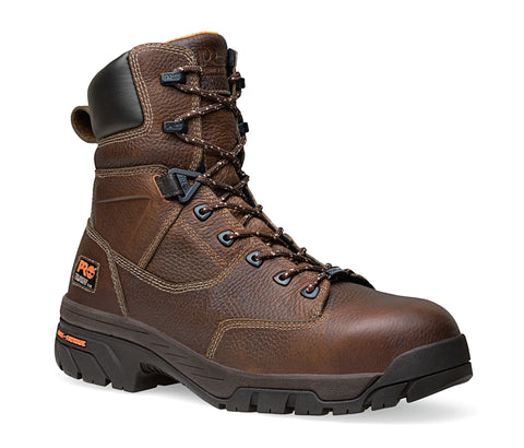 Timberland Pro 8In Helix Comp Toe WP Mens Brown Leather Work Boots