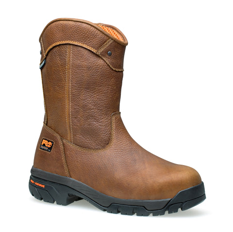 Timberland Pro Helix Wellington Comp Toe WP Mens Tan Leather Work Boots