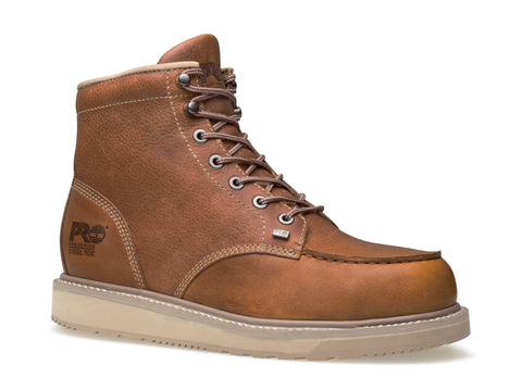 Timberland Pro 6In Barstow Wedge Mens Rust Leather Work Boots