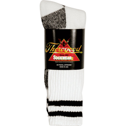 Thorogood Unisex Postal Blue White Cotton Blend 3 Pack Mini Crew Socks