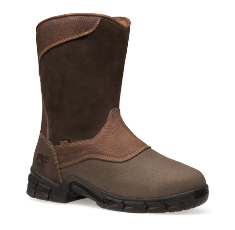 Timberland Pro Excave Wellington Met Guard Mens Brown Leather Work Boots