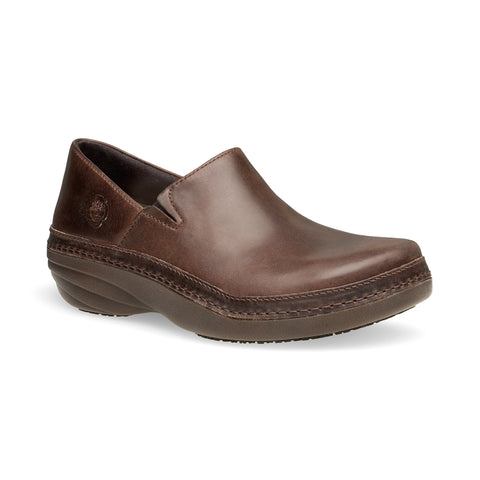 Timberland Pro Renova Slip-On Womens Brown Leather Work Shoes