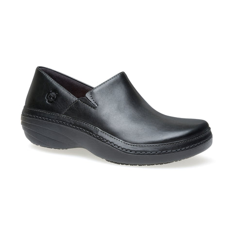 Timberland Pro Renova Slip-On Womens Black Leather Work Shoes