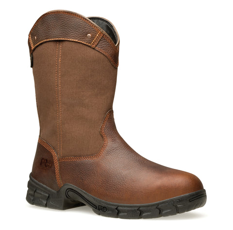 Timberland Pro Excave Wellington WP Mens Brown Leather Work Boots