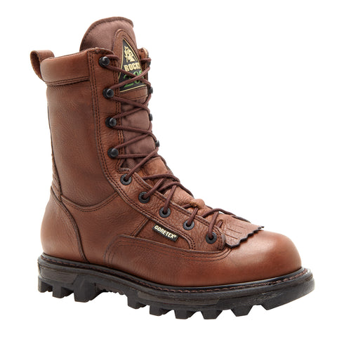 Rocky Mens Brown Leather Bearclaw 3D Insulated Goretex Hiking Boots