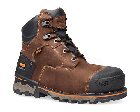 Timberland Pro 6In Boondock Comp Toe WP Mens Brown Leather Work Boots