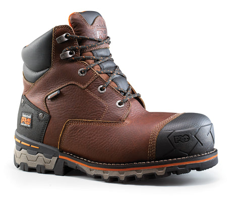 Timberland Pro 6In Boondock CT WP INS 400 Mens Brown Leather Work Boots