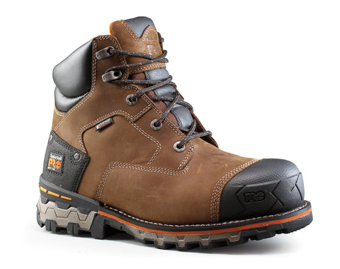 Timberland Pro 6In Boondock WP Mens Brown Leather Work Boots Ever-Guard