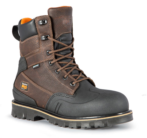 Timberland Pro 8In RigMaster ST WP Mens Brown Leather Work Boots