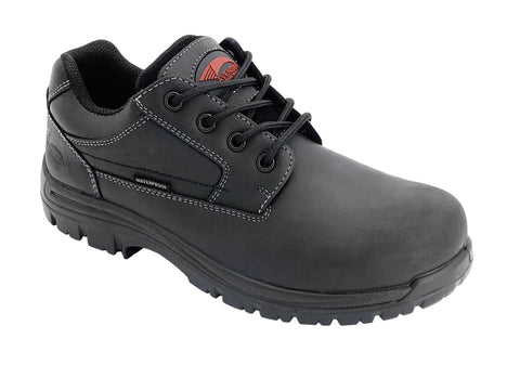 Avenger Mens Black Leather Comp Toe 7119 Oxford Work Shoes