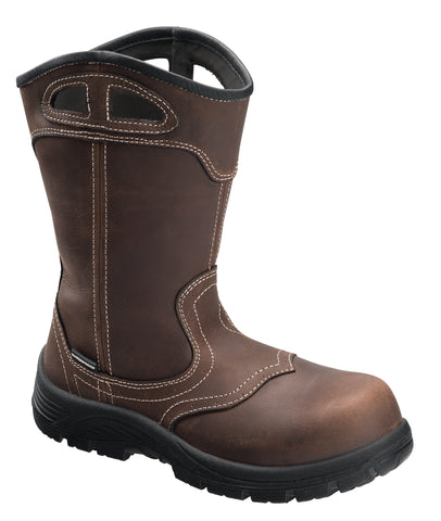 Avenger Womens Brown Leather Comp Toe 7147 10in WP Work Boots