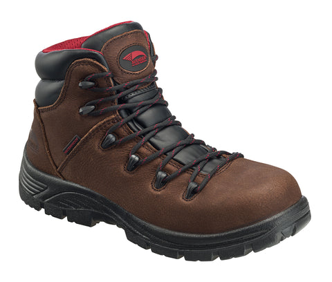 Avenger Mens Comp Toe WP Work Boot M Brown Leather