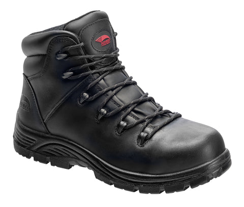 Avenger Mens Comp Toe PR EH WP Hiker W Black Leather Boots