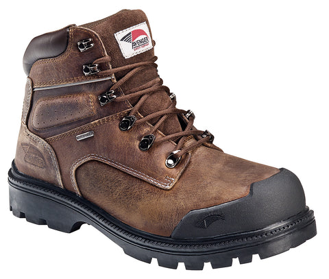 Avenger Mens Steel Toe EH Puncture Resistant WP Boot W Brown Leather