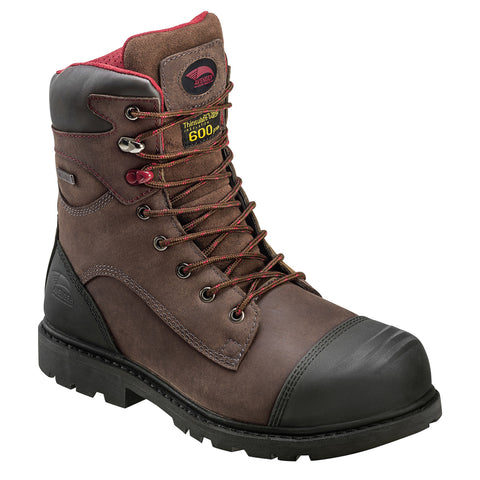 Avenger Mens Nano Tech Comp Toe EH PR WP INS W Brown Leather Boots